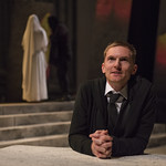 Scott Parkinson (Cassius) in JULIUS CAESAR at Writers Theatre. Photo by Michael Brosilow.