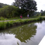 bicycling along the towpath