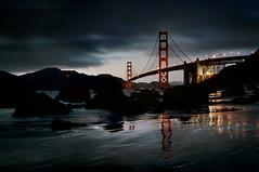 The Golden Gate Bridge - Night Falls photo by Andrew Louie Photography