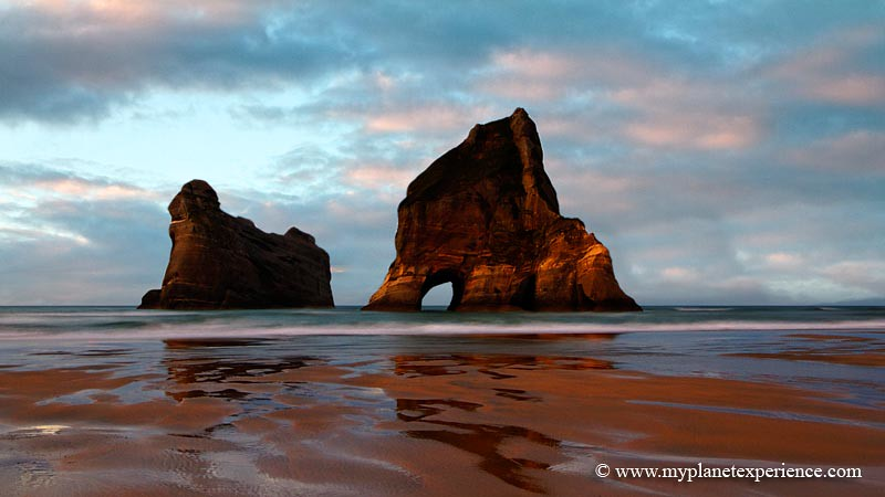 Wharariki Beach and the Archway Islands - New Zealand photo by My Planet Experience