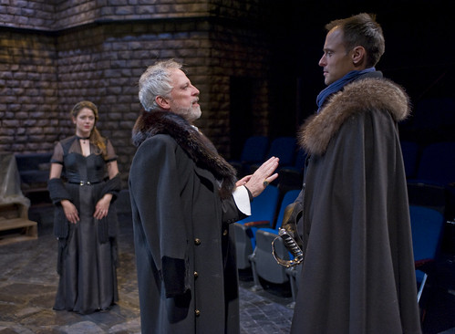 """polonius and laertes assist hamlet Claudius and laertes's plan to """"accidentally"""" stab hamlet with a real  but will  help him mess with polonius: this plan is partially effective."""