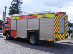 1983 - GMFRS - Volvo FL / Saxon Sanbec - Enhanced Rescue Unit - MV54 AYU photo by Call the Cops 999