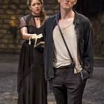 Ophelia (Liesel Matthews) and Hamlet (Scott Parkinson) in HAMLET at Writers' Theatre. Photo by Michael Brosilow.