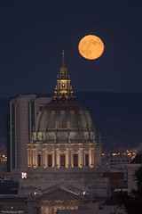 San Francisco City Hall and Harvest Moon photo by Tim McManus