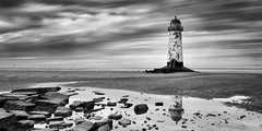 Danger - Rocks! (Talacre lighthouse) photo by Anthony Owen-Jones