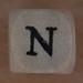 Wooden bead letter N