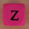 Coloured bead letter Z