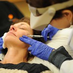 Dr. Taub injecting Sculptra