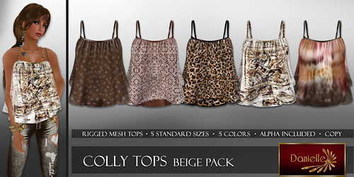 DANIELLE Colly Tops Beige Pack