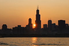 Chicago Sunset photo by russ david