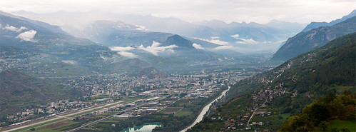 Aéroport de Sion dans la vallée
