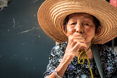 People faces in Hong Kong   Old woman in Tung Chau Street, West Kowloon, Hong Kong photo by Daniele Romeo