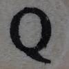 Wooden bead letter Q