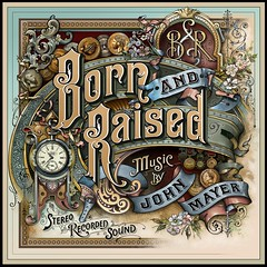 John Mayer Born And Raised Album Cover