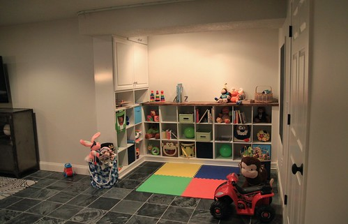basement playspace in progress