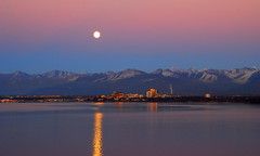 Alaska Moon Dominates The Evening In Cook Inlet photo by MarculescuEugenIancuD60Alaska