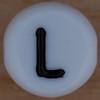 White Bead letter L