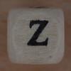 Wooden bead letter Z