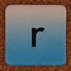 cardboard tile letter r