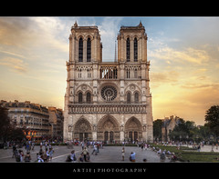 Notre Dame Cathedral, Paris, France :: HDR photo by :: Artie | Photography ::