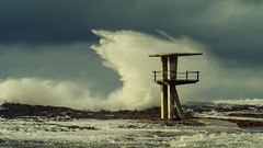 .... The october storm at Temara beach - 2 photo by aminefassi