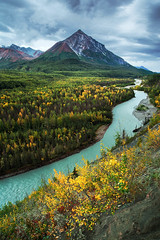 King Mountain and the Matanuska River photo by Joe Ganster