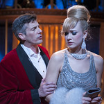 Jeff Parker (Vittorio) and Emily Ariel Rogers (Ursula) in SWEET CHARITY at Writers Theatre. Photo by Michael Brosilow.