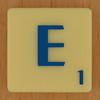 Scrabble Blue Letter E
