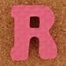 Foam Letter R