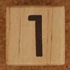 Calendar Wood Block number 1