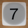 White Dice Number 7