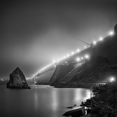 Golden Gate Bridge In Fog, San Francisco, California photo by Sebastian (sibbiblue)