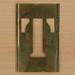 Brass Stencil Letter T