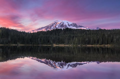 Sunset Reflection over Mount Rainier [Explore] photo by Meleah Reardon