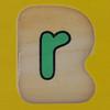 Fret Saw Letter R