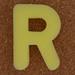 Sponge Letter R