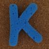 Sponge Letter K