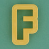 Pastry Cutter Letter F
