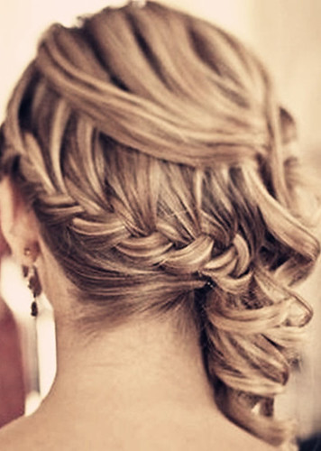 long braid wedding hairstyle