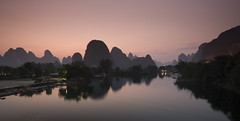 Yulong river at dusk photo by Oscar Tarneberg