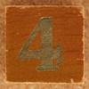 Calendar Wood Block number 4