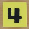 Foam Yellow Dice Number 4