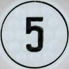 Golf Dice Number 5