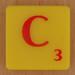 Scrabble Simpsons Lletra C
