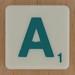 Scrabble Green Letter A