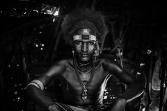 portrait of a boy Dassanech(galeb) tribe style photo by anthony pappone photography