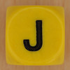 WORDS dice letter J