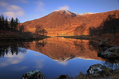 A Highland Hill Reflection. photo by Gordie Broon.