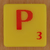 Scrabble Simpsons Letter P