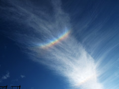 Rainbow Colors in the Sky - Circumzenithal arc (CZA) photo by Batikart